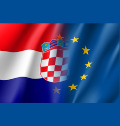 Symbol croatia is eu member vector