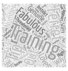 Training ferrets word cloud concept vector