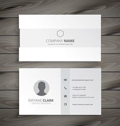 White minimal business card vector