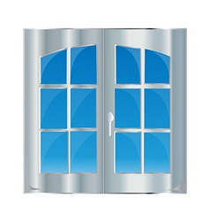 Window with blue sky vector image