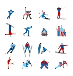 Winter sportsmen set vector