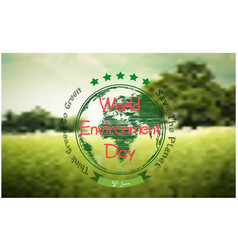 world environment day background with forest vector image vector image