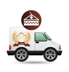 Transport of piece of cake vector