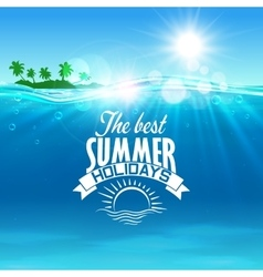 Vacation summer holidays and travel design vector