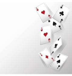 Casino and cards of poker design vector