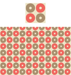Circles geometric pattern swatch vector