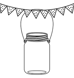 Isolated mason jar design vector