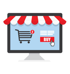 Concept online shopping vector