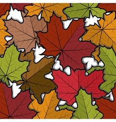 Seamless pattern from maple leaves vector