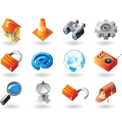 icons for website interface vector image