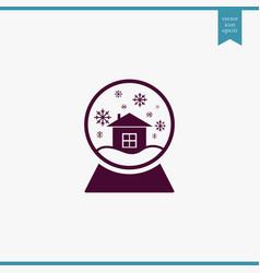 Snow globe icon simple vector