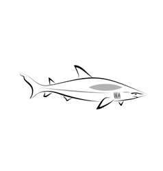 Stylized shark vector