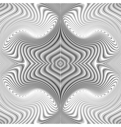 Design seamless monochrome whirl pattern vector