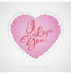 Valentines day greeting card with pattern vector