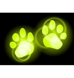 Animal neon light vector