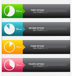 Option banners with place for text vector