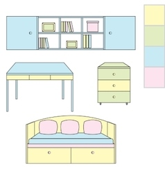 Icons kids room vector