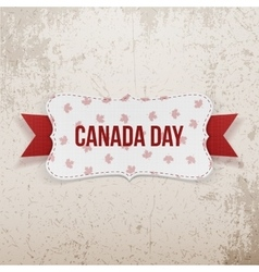 Canada day realistic national emblem vector