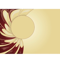Abstract creamy background vector image vector image