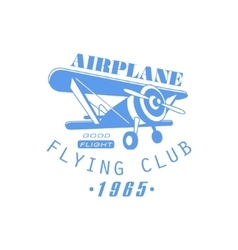 Airplane club emblem design vector