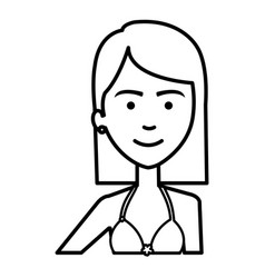 Beautiful and young woman student vector