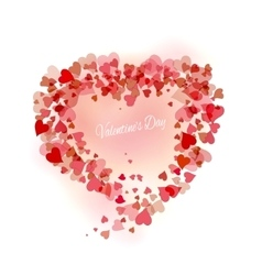Beautiful pink background with hearts vector