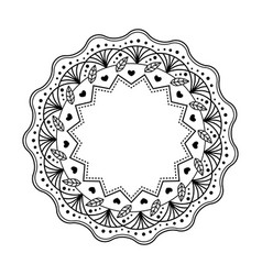 black mandala isolated on white background vector image