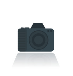 Camera icon pictogram in flat style vector