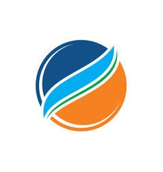circle arrow sphere business logo vector image vector image
