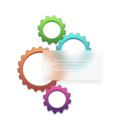 Colorful gears background vector image vector image