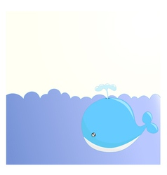 Cute whale background vector image vector image