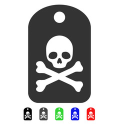 Death sticker flat icon vector