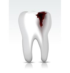 Decayed teeth vector