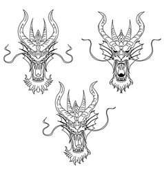 dragon head tattoo vector image