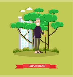 granddad in flat style vector image