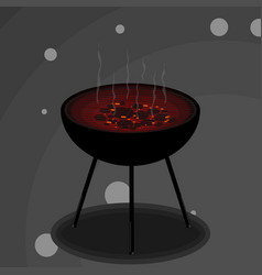 Grill with smoke vector