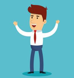 Happy businessman design vector