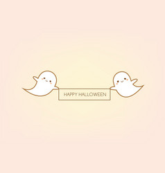 happy halloween greeting card design template vector image