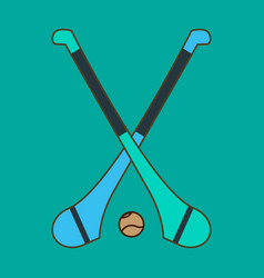 hurling game irish hurling hurley and vector image