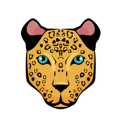 Jaguar tropical bird icon vector