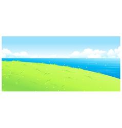 Lake green landscape vector image vector image