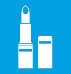 lipstick icon white vector image