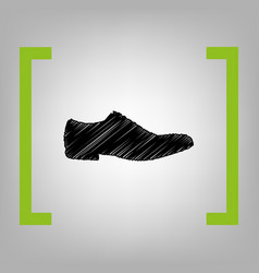 men shoes sign black scribble icon in vector image vector image
