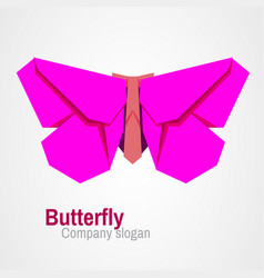 origami butterfly logo vector image
