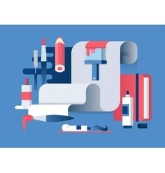 Painting art design flat vector image