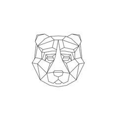 polygonal geometric animals vector image vector image