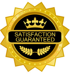 satisfaction guaranteed icon vector image vector image