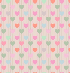 Seamless pattern with repeating hearts vector image