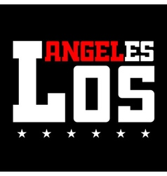 T shirt typography Los Angeles CA stars black vector image vector image