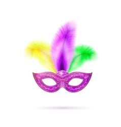 Violet venetian carnival vector